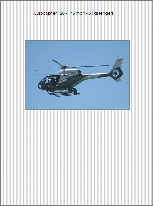 Charter Helicopter - Eurocopter 120