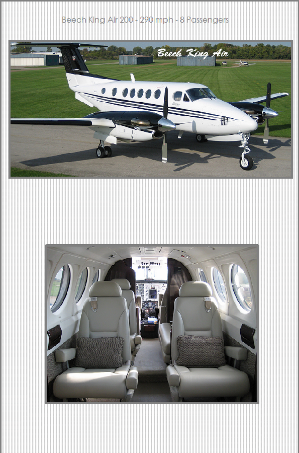 Airplane Charters - Beech King Air 200