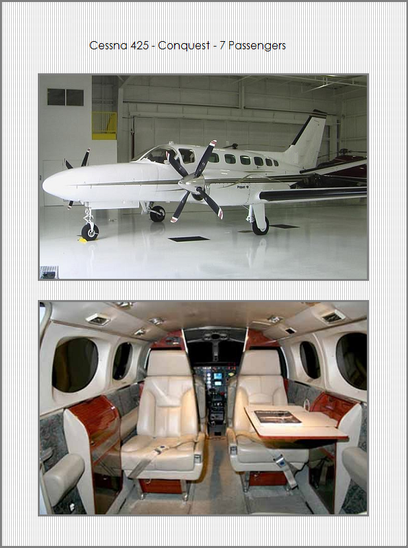 Airplane Charters - Cessna 425 Conquest